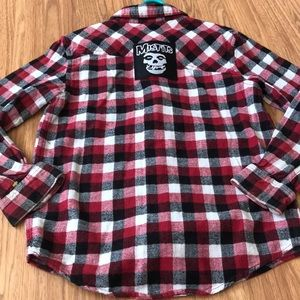 Misfits Upcycled Shaun White Button Down Shirt